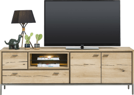 lowboard 170 cm - 2-doors + 2-drawers + 2-niches (+ led)