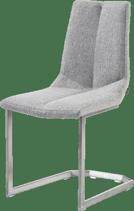 chaise inox traineau carre + forli gris clair