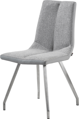 chaise pieds inox + combi moreno/forli