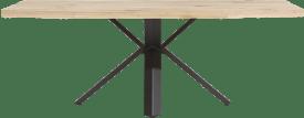eetkamertafel 220 x 100 cm - hout - sterpoot