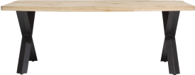 eetkamertafel 220 x 100 cm - hout - x-poot