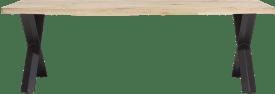eetkamertafel 250 x 100 cm - hout - x-poot