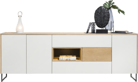 sideboard 3-doors + 3-drawers + 1-niche - 240 cm (+ led)