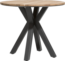 table de bar ronde 110 cm - kikar massif + mdf