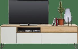lowboard 200 cm - 1-porte + 3-tiroirs + 1-niche (+ led)
