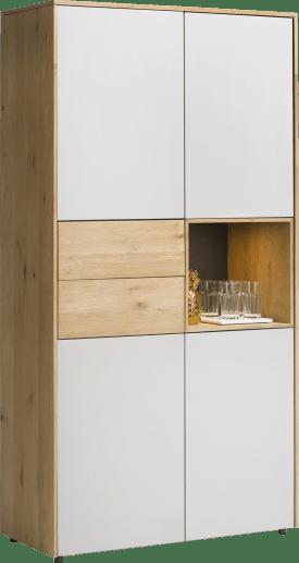 armoire 100 cm - 4-portes + 2-tiroirs + 1-niche (+ led)