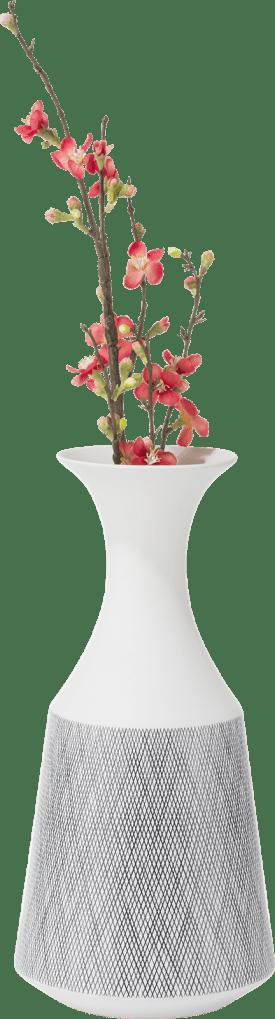 vase dagny h42cm blanc-gris ceramique