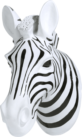 3-d wand object zebra head