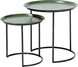 2 tables d'appoint livy