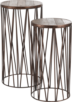 2 tables d'appoint rosalie - metal