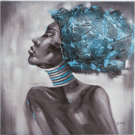 bild african beauty side - 80 x 80 cm