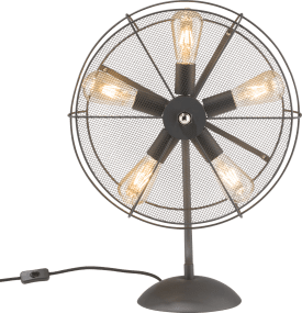 fan, tafellamp 5-lamps