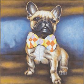 bild bulldog pride - 80 x 80 cm