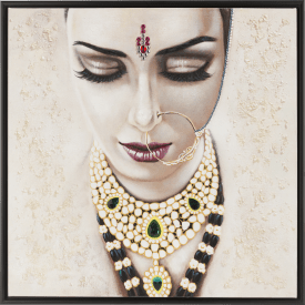 bild indian bride - 95 x 95 cm