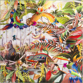 bild jungle fever - 100 x 100 cm