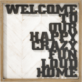 wand dekoration happy home - 50 x 50 cm