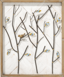 decoration mural tree branch - 60 x 50 cm