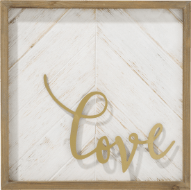 decoration murale love - 40 x 40 cm