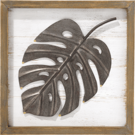 decoration mural monstera leaf - 30 x 30 cm