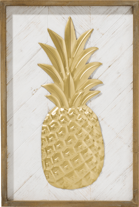 decoration mural pineapple - 60 x 40 cm