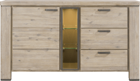 dressoir 160 cm - 1-deur + 3-laden + 3-niches (+ led)