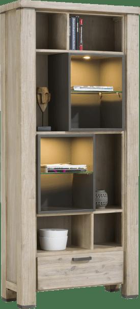 boekenkast 1-lade + 10-niches (+ led)