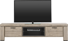 tv-dressoir 190 cm - 1-klep + 1-lade + 2-niches