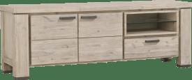 lowboard 170 cm - 2-deuren + 1-lade + 2-niches