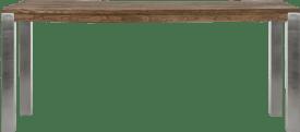 tresentisch 220 x 100 cm - edelstahl 9x9