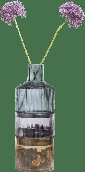 3 vazen abigail - groen / grijs / amber combi