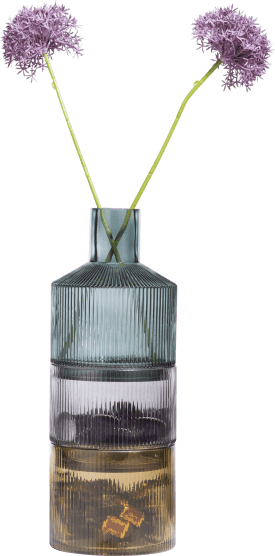 3 vases abigail - green / grey / amber combi