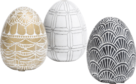 3 oeufs de paques easter eggs large - multicolour
