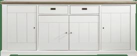 dressoir 4-deuren + 2-manden - 225 cm