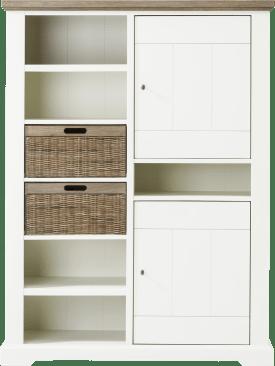bergkast laag 2-deuren + 2-manden + 5-niches