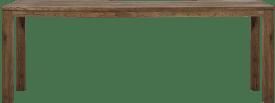 bartafel 260 x 100 cm - hout 9x9