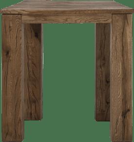 bartafel 90 x 90 cm - hout 12x12/10x14