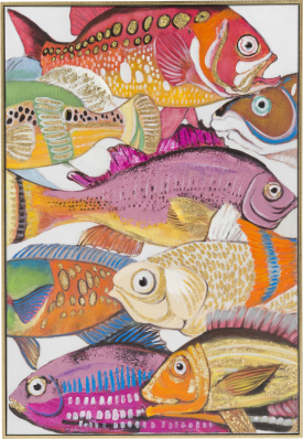 bild fish a - 60 x 90 cm (rot/orange)