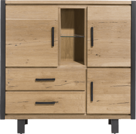 highboard 3-deuren + 2-laden + 2-niches (+ led)