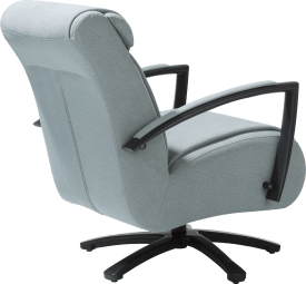 fauteuil met draaivoet - rvs of zwart