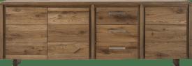 buffet 240 cm - 3-portes + 3-tiroirs - pieds bois