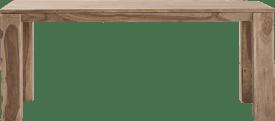 table a rallonge - 190 (+ 50) x 90 cm + butterfly + pieds en bois