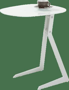table d'appoint pour portable 50 x 44,5 cm + blanc / blanc