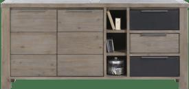 dressoir 2-deuren + 3-laden + 3-niches - 180 cm