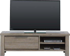 tv-dressoir 1-klep + 2-niches - 140 cm