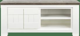 tv-dressoir 2-deuren + 2-niches - 130 cm