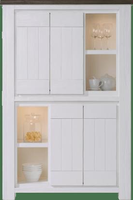 bergkast 4-deuren + 4-niches - 110 cm ( + halogeen)