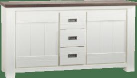 onderkast buffet / dressoir 2-deuren + 3-laden - 160 cm
