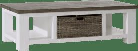 salontafel 130 x 70 cm 1-mand t&t + 2-niches
