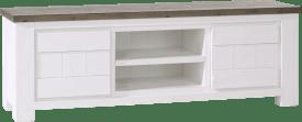 tv-dressoir 2-deuren + 2-niches - 160 cm