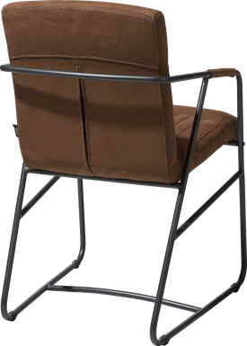 fauteuil - cadre metal couleur anthracite - tissu kibo